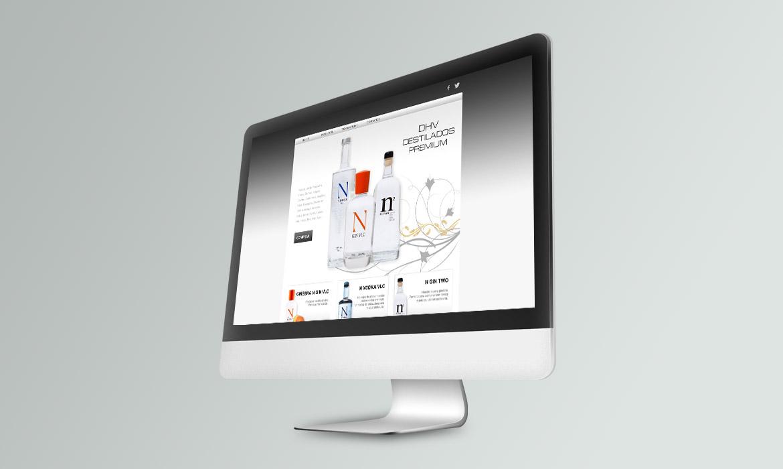 Web corporativa DHV Destilados Premium