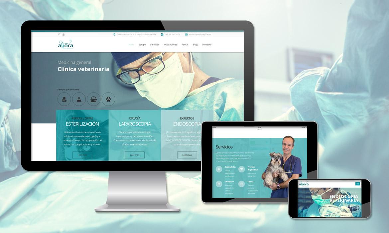 Web corporativa Clínica veterinaria Ayora